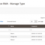 Admin managing types - RMA Requests Module
