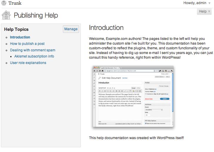 Documentation Plugin