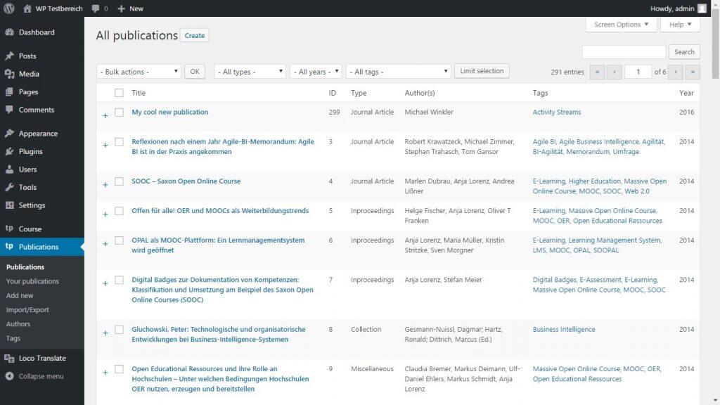 TeachPress  screenshot - 10 WordPress Plugins for eLearning in 2020