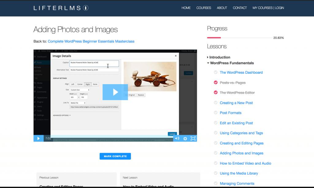 LifterLMS  screenshot - 10 WordPress Plugins for eLearning in 2020