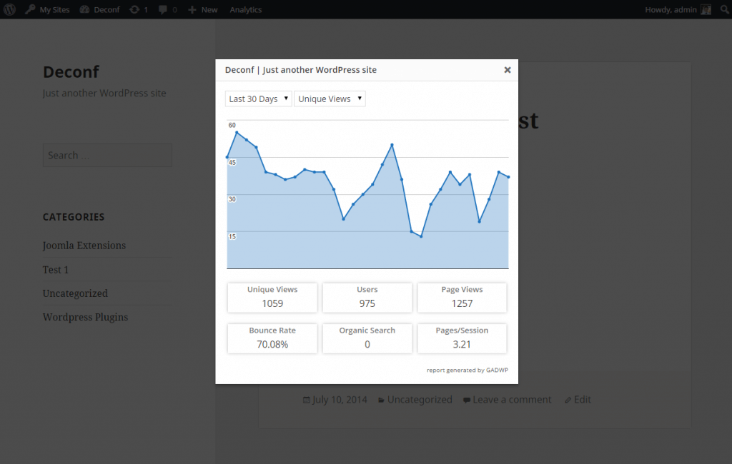 Google Analytics Dashboard for WP  - Take Full Control Of Your Website With These 5 Custom Reports WordPress Plugins