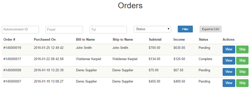 Supplier order view - Managing Orders - Managing a Multi-Vendor Marketplace with CM Extensions for Magento