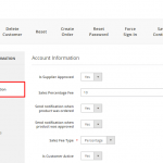 Account Information - Supplier Redirection Configuration Module for Magento