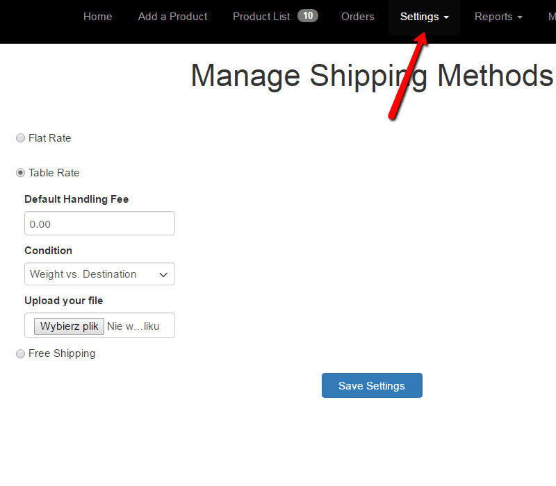 Manage Shipping Methods in Vendor Panel - dhl fedex multiple flat rate table rate ups usps
