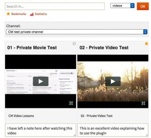 Video Lessons Manager Plugin for WordPress frontend example