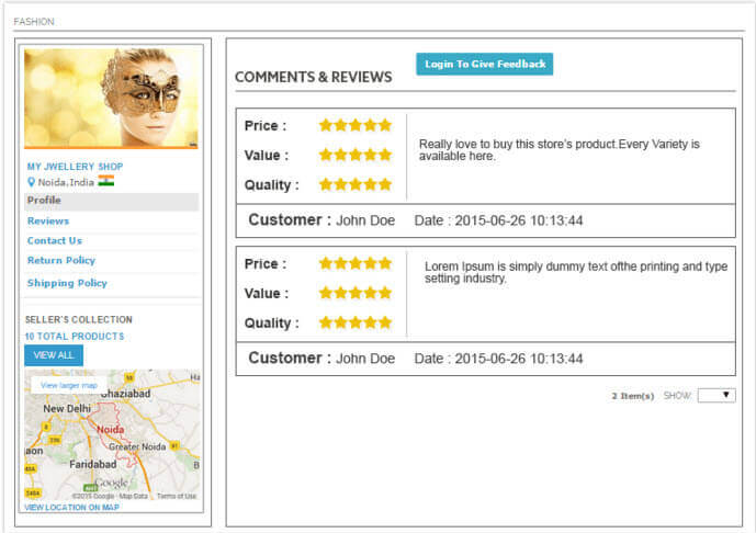 WebKul marketplace customer ratings