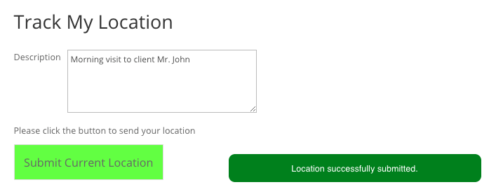 Save Location Button